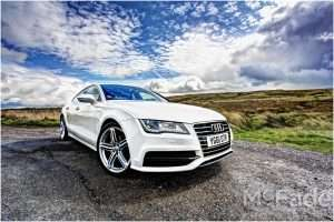 Photographing Audi A7 in Bradford